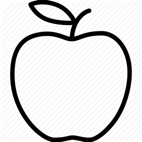 Apple Outline Png by Outline Of Apple Clipart Best