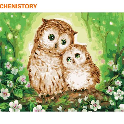 owl lover chenistory owl lover diy painting by numbers modern wall