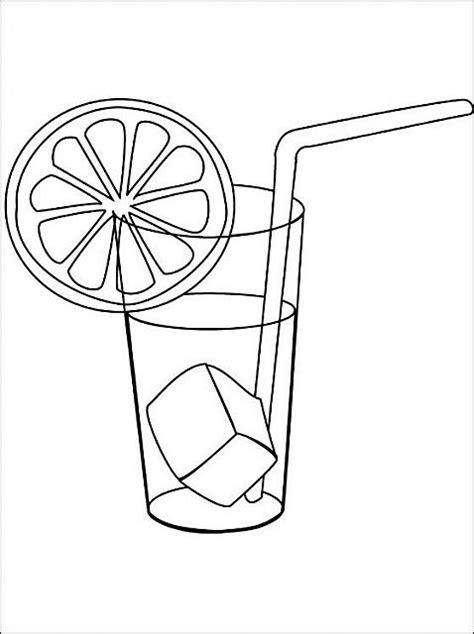 bicchieri da colorare disegni da colorare bicchiere di limonata disegni da