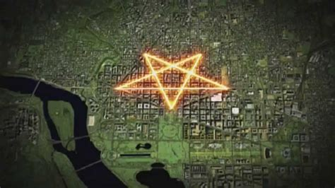 why are inverted pentagrams on lds mormon temples clip