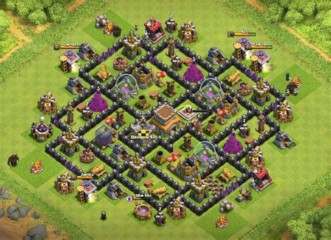 layout coc th8 4 mortar th8 base 4 mortars black hole myideasbedroom com