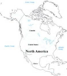 free blank map of and south america