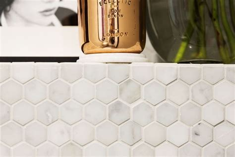 Set Trendy Tosca hexagons are set to be a big tiling trend in 2015 the mos