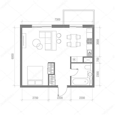architecture photography floor plan 135233 boyutlu mimari kat planı st 252 dyo daire vekt 246 r 231 izim