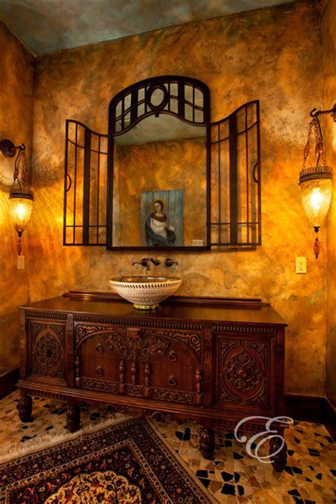 tuscan bathroom on mediterranean tuscan home interiors upscale tuscan mediterranean powder room houston