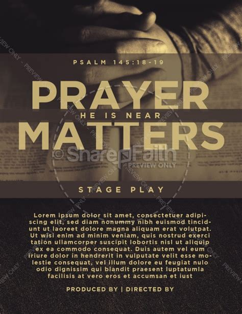 Scripture On Praying Church Flyer Prayer Flyer Template