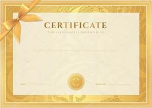 certificate diploma of completion template background
