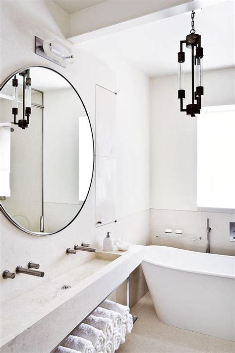 stone framed bathroom mirrors white bathroom oversized circle mirror lighing fixture