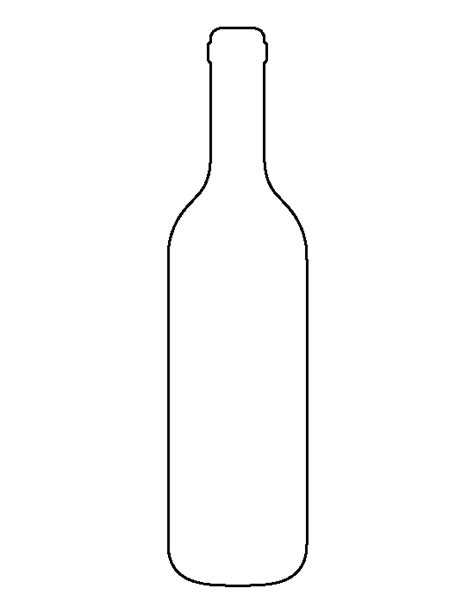 wine bottle template wine bottle pattern use the printable outline for crafts