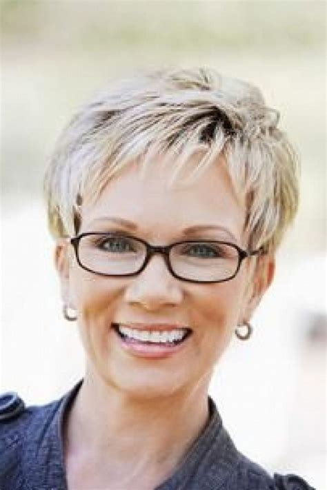 hairstyles with thick glasses short gray hairstyles for women pictures gallery of