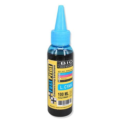 Sale Tinta Bio Eco Solvent Epson 1 Set 4 Warna 250 Ml tinta bio eco solvent epson light cyan fast print indonesia