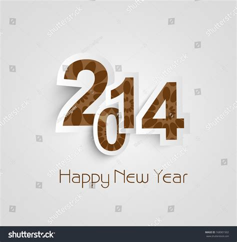 creative happy new year texts beautiful text happy new year 2014 creative vector design 168901502