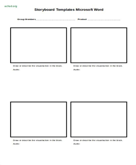 printable template storyboard 14 storyboard templates in word free premium templates