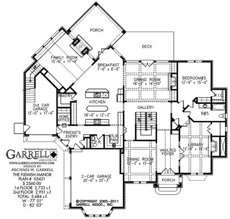 flemish manor house plan estate size house plans