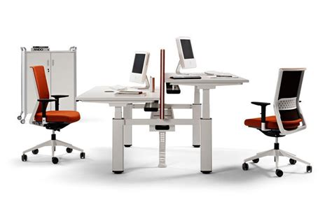 Electronic Height Adjustable Desk by Mobus Electronic Height Adjustable Desks 1600mm X