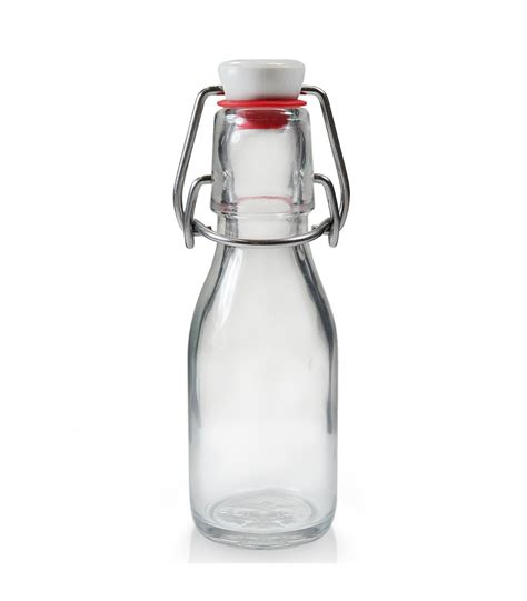 glass flask bottles with swing top 100ml glass swing top bottle