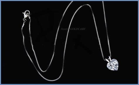cadena de oro blanco para dama fino dije de corazon cadena de oro blanco 10k dama