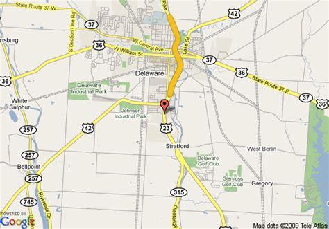 map of comfort inn delaware delaware