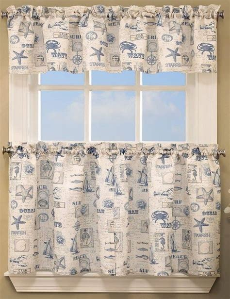 beach curtains for kitchen at the beach