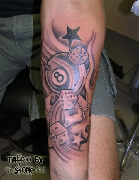 eight ball tattoo designs dice images designs