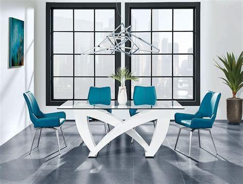 dining room set  turquoise chairs  global furniture furniturepick