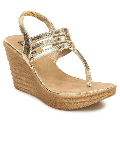 Wedges Gold 1 hide gold wedges heels price in india buy hide
