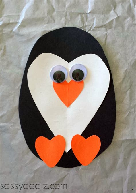 Penguin Paper Craft - arts s craft a penguin antigua s playground