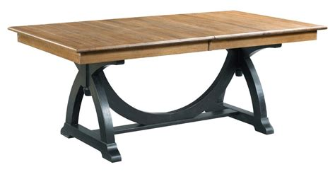 trestle table with leaves transitional rustic trestle table with two extension