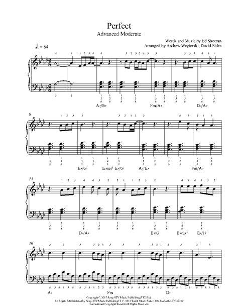 ed sheeran perfect midi free perfect by ed sheeran piano sheet music advanced level