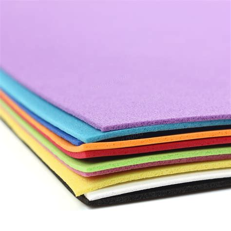 Sponge Paper Craft - 10pcs thick multicolor sponge foam a4 paper fold