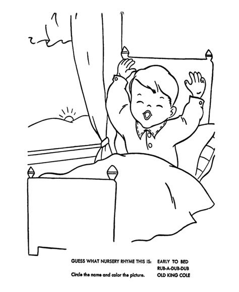 Bed Coloring Pages Coloring Home Bed Coloring Page