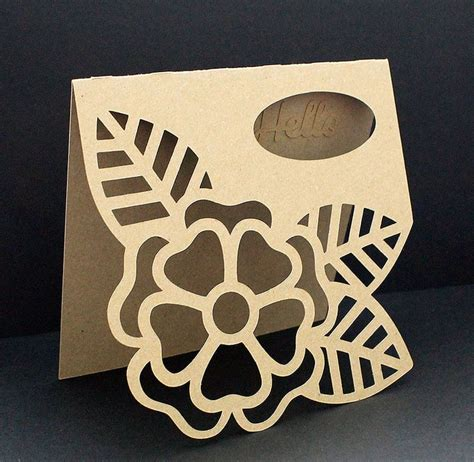 cricut large place card template large flower card 3 ways free cut file more cards