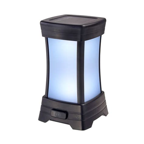 amerelle solar black led patio light 73175 the home depot