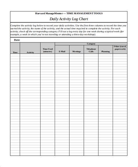 Activity Log Template 12 Free Word Excel Pdf Documents Download Free Premium Templates Daily Activity Log Template Excel