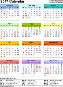 Niger Calendario 2018 2017 Calendar With Federal Holidays Excel Pdf Word Templates