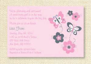 pink butterfly baby shower invitation by littleprintsparties
