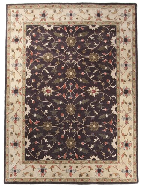 Beautiful Traditional Persian Wool Area Rug 8x10 Handmade 8x10 Black Area Rug