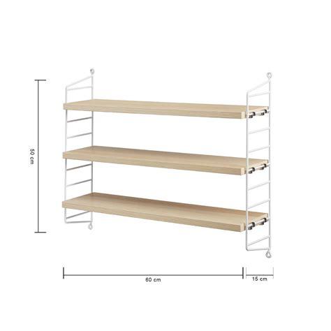 Wood String - ash wood string pocket floating shelves by string