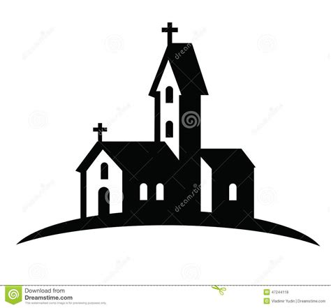 clipart chiesa church icon stock vector illustration of chapel