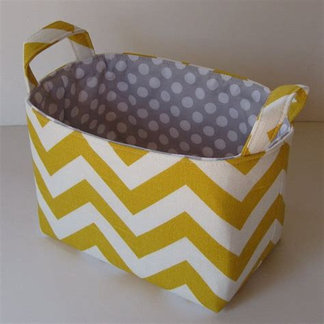 yellow patterned storage bins storage and organization desk organizer fabric container