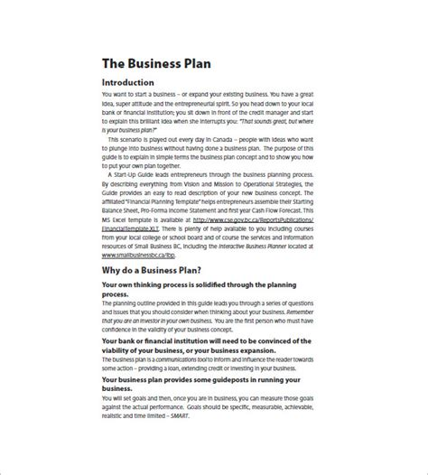 business plan templates for startups doc business plan