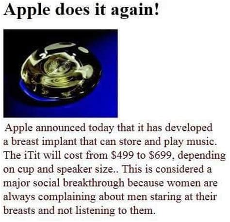 Breast Implant Meme - apples new invention the itit meme collection