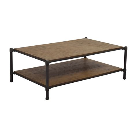 83% OFF   Ethan Allen Ethan Allen Wood and Metal Coffee