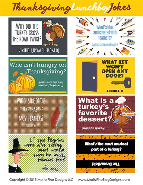 printable turkey jokes thanksgiving lunchbox jokes free printable included