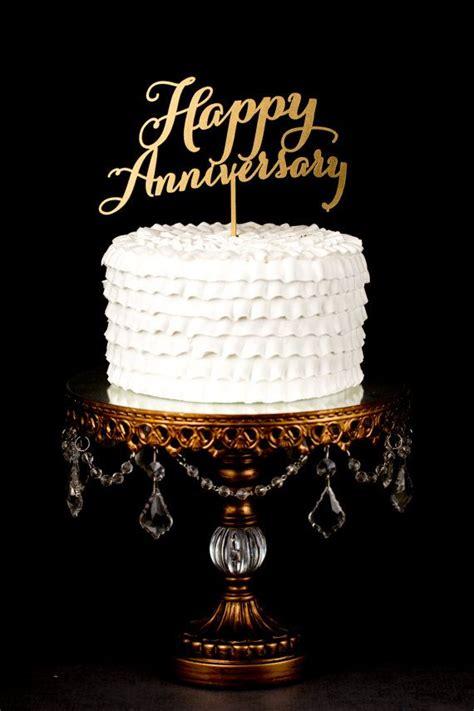 happy anniversary cake topper  betteroffwed  etsy  anniversary happy birthday cake