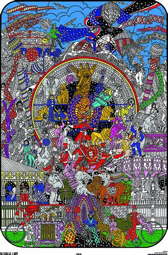 doodle house coloring poster doodle circus coloring page poster this superb