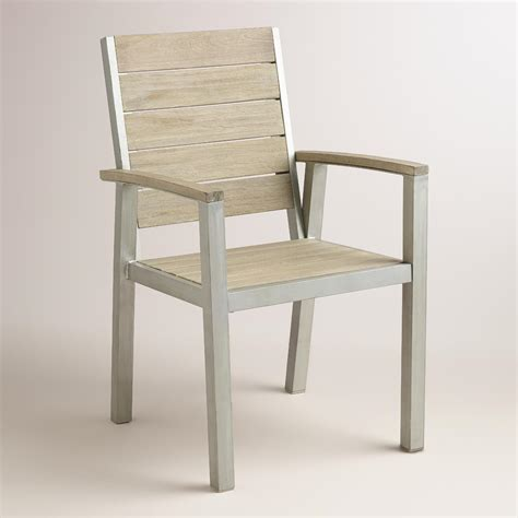 wood and metal pelagia dining armchair world market
