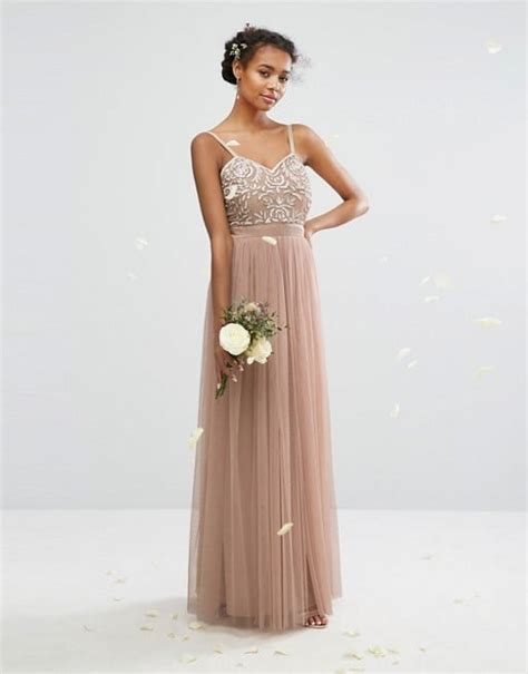 Mahya Dress beige bridesmaid dress
