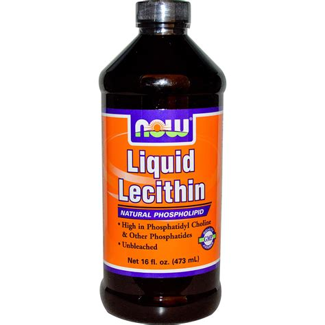 Suplemen Lechitin now foods liquid lecithin 16 fl oz 473 ml iherb