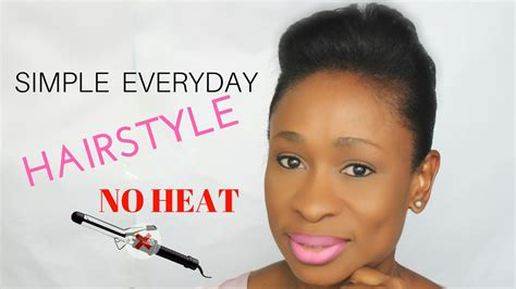 everyday relaxed hairstyles everyday hairstyle for short relaxed hair youtube